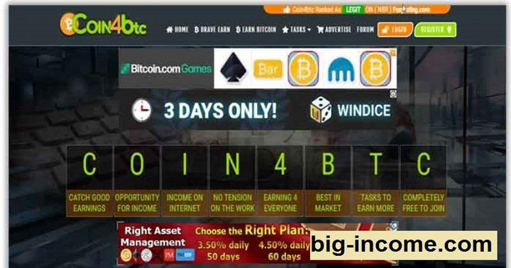 سایت کلیکی معتبر coin4btc