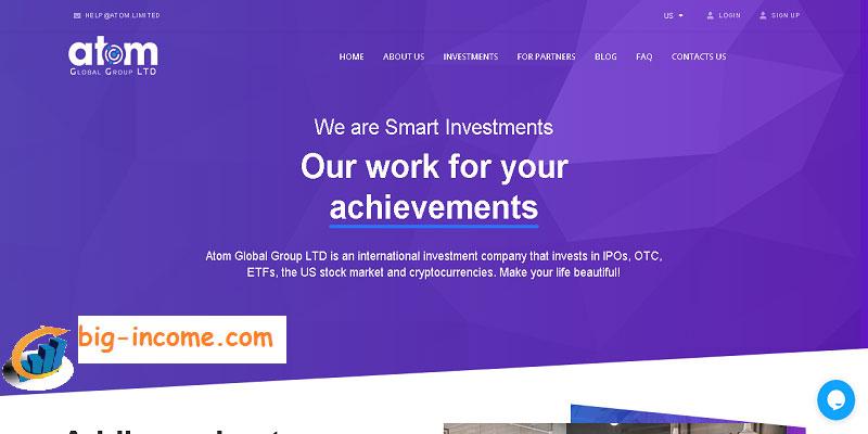 سرمایه گذاری در سایت atom limited