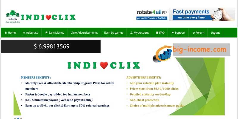 کسب درآمد دلاری با indiaclix
