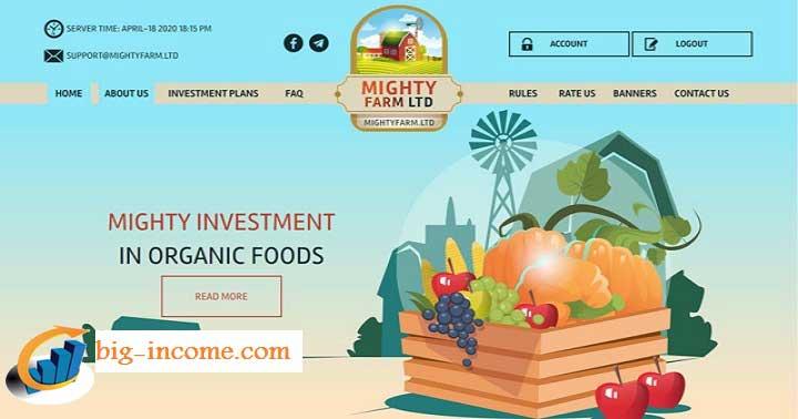 سایت MIGHTY FARM