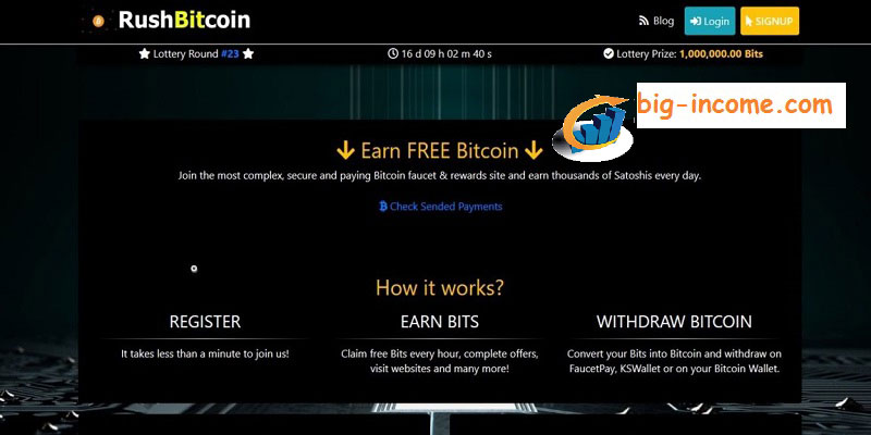 کسب درآمد رایگان با rush bitcoin