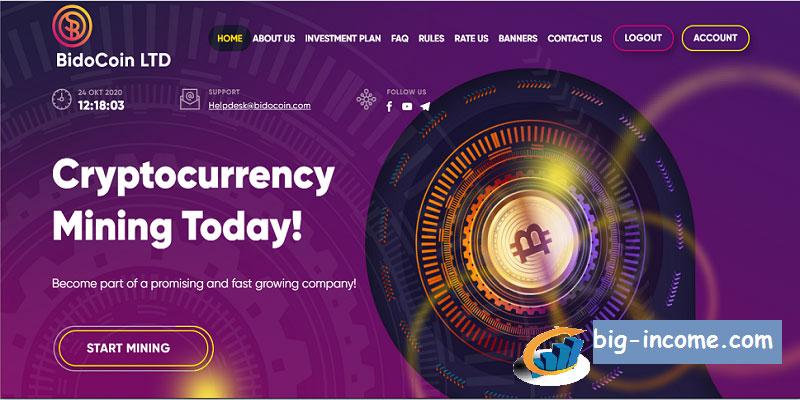 bidocoin Investment Site