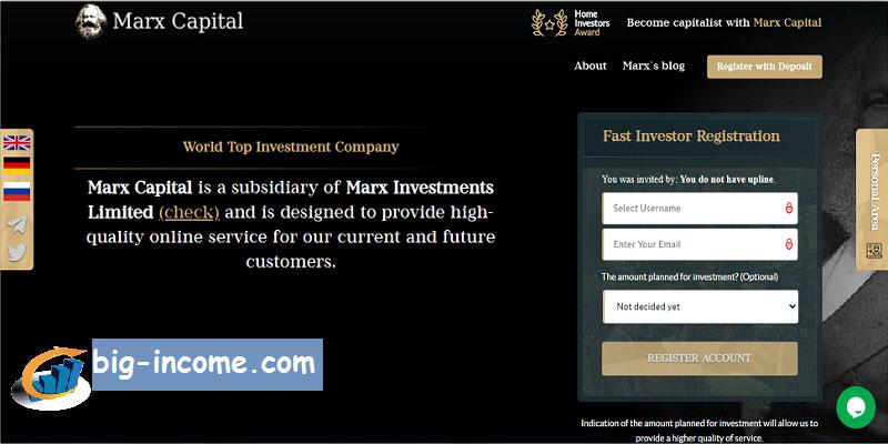 سرمایه گذاری دلاری در marxcapital