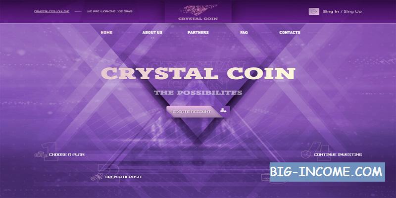 کسب درآمد دلاری با crystalcoin