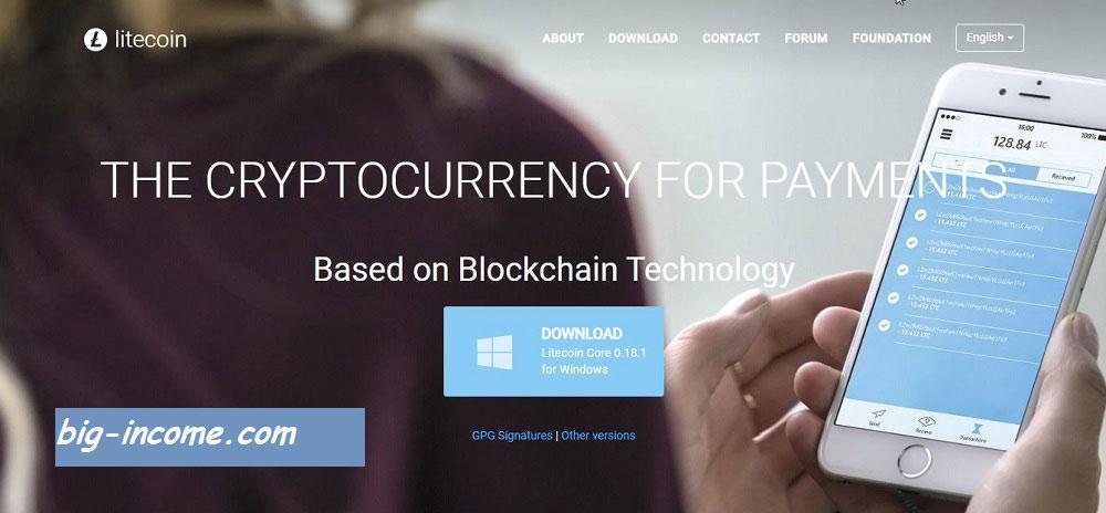 کیف پول لایت کوین Litecoin Core Client
