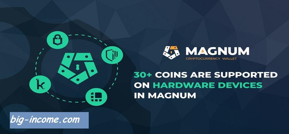آموزش کیف پول magnum wallet