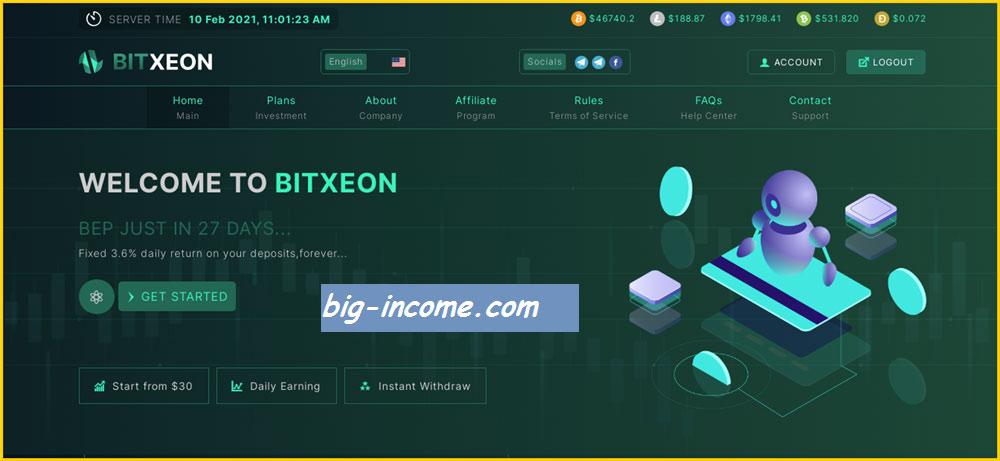 کسب درآمد از سایت bitxeon