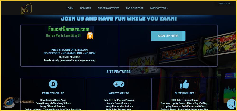 کسب لایت کوین و بیت کوین رایگان در Faucetgamers