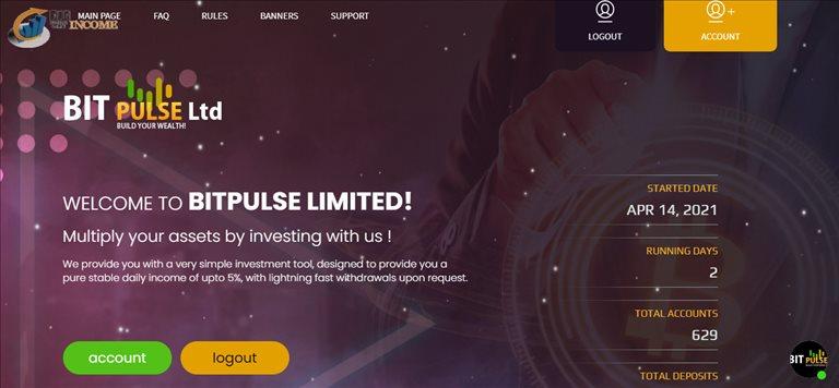 سرمایه گذاری دلاری با Bitpulse